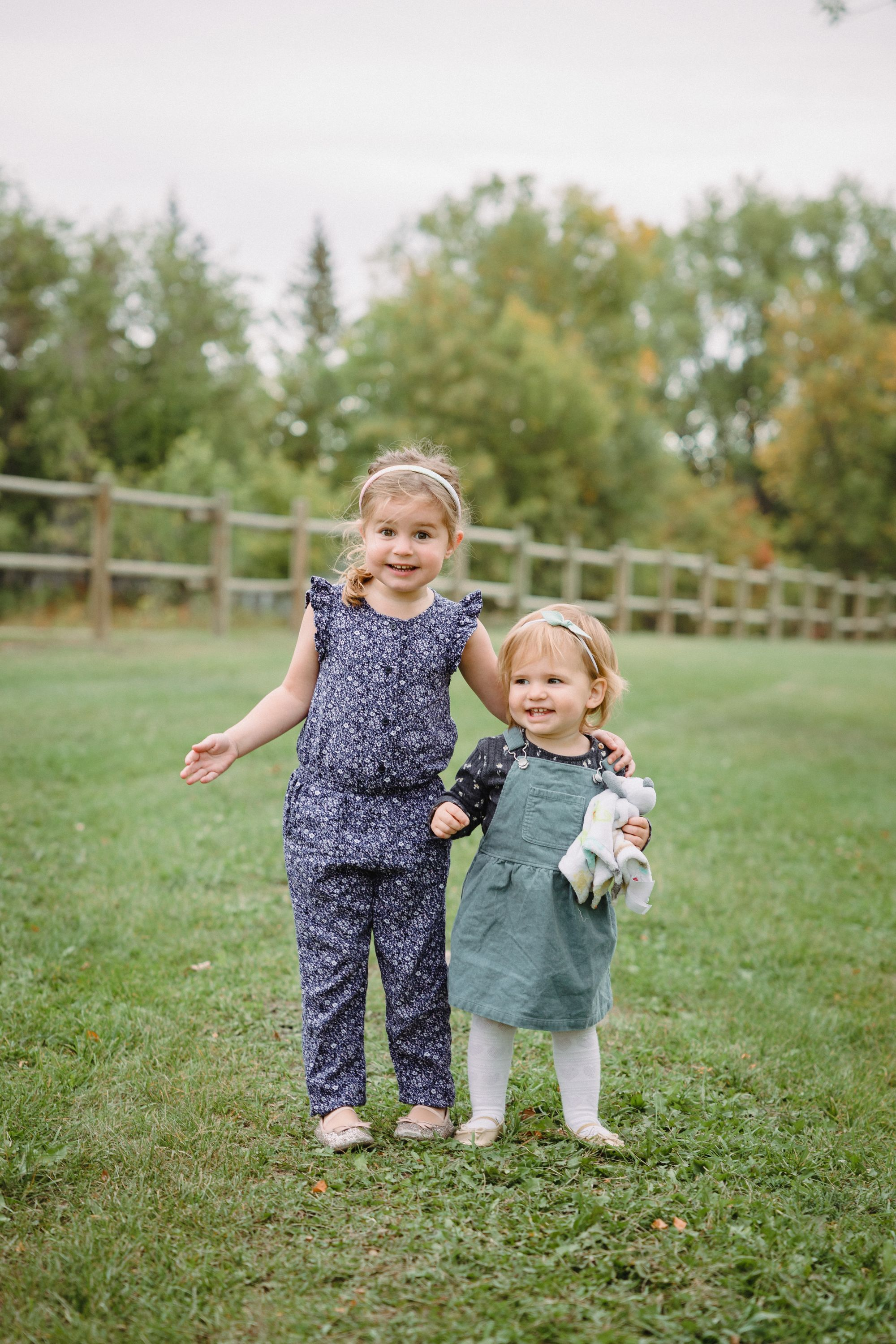 Emryn at 3 1/2 years old. Shae at 1 1/2 years old. For my recollection, of course.